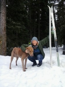 me and tanner ski